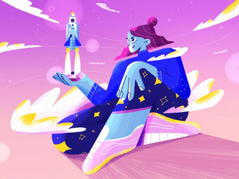 MVP for Startups app startup mvp news ux blog article fireart ui character design 2d illustration