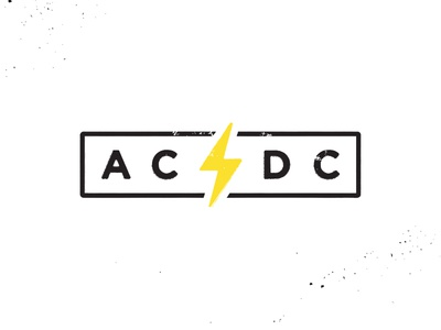 AC/DC lightning acdc rock icon electric bolt logo rock n roll