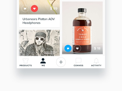 WRBN - Social wishlist and shopping products ux profile ios favorite ui shopping
