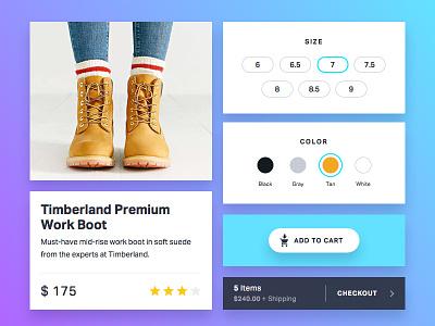 TILT UI - Commerce Snippet shopping ios ui tilt commerce
