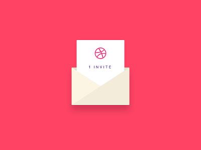 1x Dribbble Invite dribbble invite mail giveaway invite dribbble