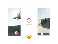 Hyperlapse UI Kit (Sketch) download sketch ios ui kit ui instagram hyperlapse