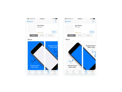 App Store Previews (Sketch Freebie) free download template app store ios download freebies freebie sketch