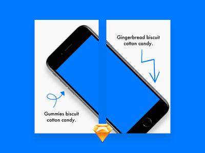 App Store Previews (Sketch Freebie)
