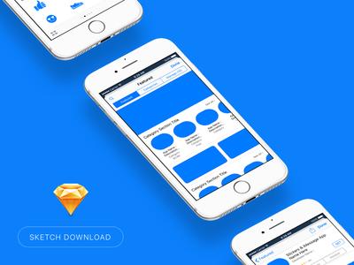 iOS Sticker AppStore Displays (Sketch Freebie)