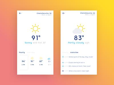 001 :: Weather App ui clean simple app mobile
