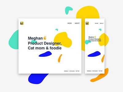 Personal Site graphic design product design portfolio svg css html dreamweaver adobe