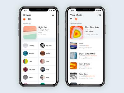 003 :: Music App app ui bright minimal clean