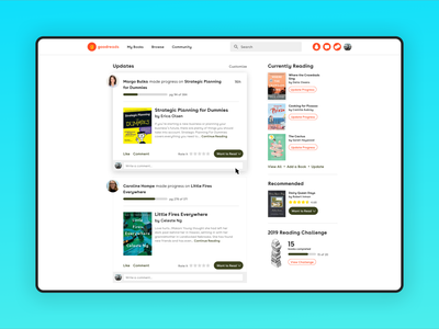 Goodreads redesign 📚 web design user interfaces ui user experience