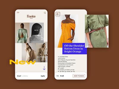 004 :: Clothing Shop minimal shopping app shopping cart shop womens fashion native app ui