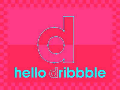 Hello Dribbble typeface designer type design typography typedesign