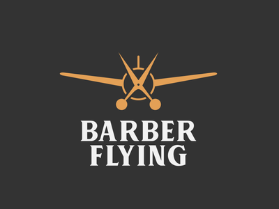 Logotipo - Barber Flying logo