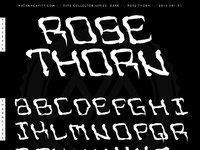 Rose thorn font preview mock up2