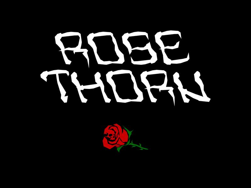 RoseThorn Font type art skull vector art illustrator vector thorn rose type font design lettering typeface font