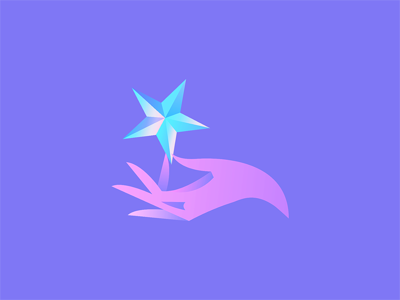 Star shimmer glow hold hand shine star