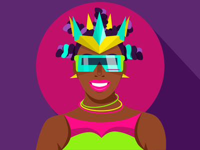 Rave Princess club neon vizor glasses crown princess rave