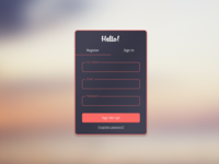 Daily UI #001 - Sign In Form