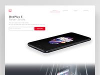 Daily UI #003 OnePlus Landing Page
