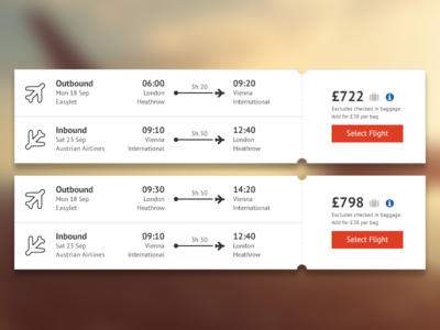 Flight Listings for Holiday Booking Company