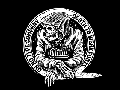 Ohno  tshirt logo design ink white black illustration typography