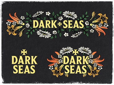 Dark Seas Division dark seas division design apparel brush flowers 70s illustration ink reaper soul
