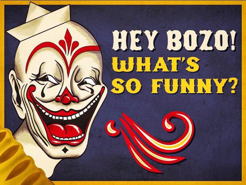 Just Clownin' Around wacom illustration circus bozo clown