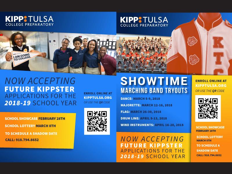 KIPP Tulsa Student Recruitment Fliers college band recruitment student tulsa