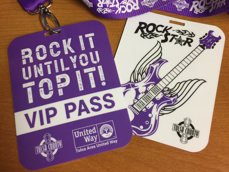 United Way VIP Rock star Lanyard vip lanyard purple rockstar united way