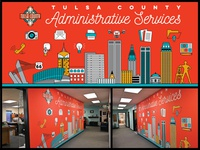 Tulsa County Administrative Services Mural 2019