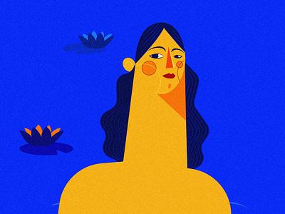 Mermaid wondering if it's spring yet minimalism minimalillustration flat adobe minimal illustration freelance illustrator vector design characterillustration illustration illustrator