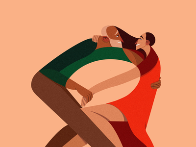 Dancing On The Color Spectrum characterillustration illustrator freelance illustrator procreate process procreate art procreateapp illustration