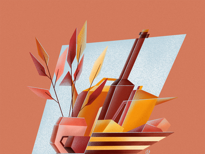 Still Life Study avant-garde cubist geometric ukrainian illustrator ukrainian illustrator new york illustrator still life procreate art procreateapp procreate illustrator illustration