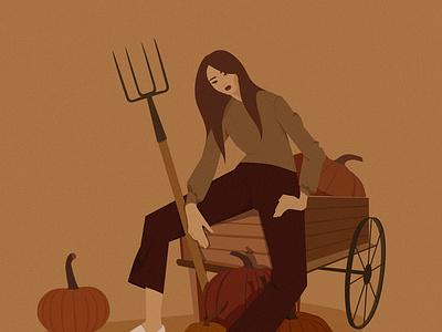 Pumpkin season2019 adobe art illustrator freelance illustrator flat design vector minimal illustration illustration characterillustration