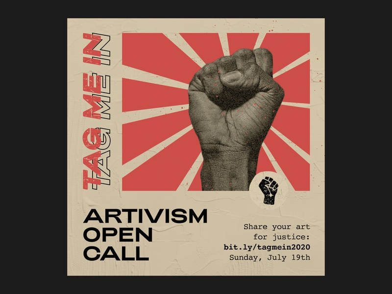 Tag Me In–Art Campaign type illustration posters activism social media design layout graphic design graphic art art direction blm campaign art