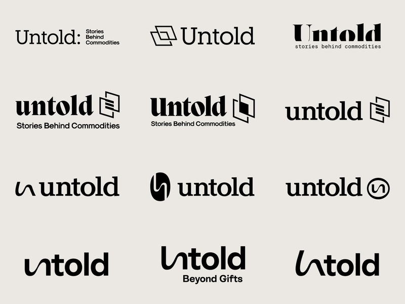 untold Logo Explorations typography vector symbol marks logos lettermark logomark graphic design branding design logo brand identity brand design brand
