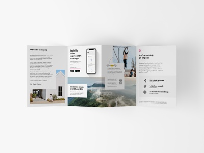 Welcome Brochure branding composition sustainable mobile clean energy vector graphic design type layout print brochure