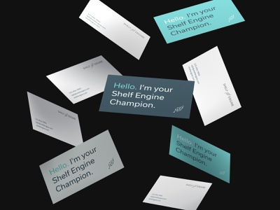 Shelf Engine – Business Cards tech business card identity design stationery layout business cards typography leaf logo texture color branding