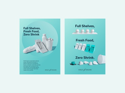 Shelf Engine Print Ads gradient design art direction photography branding typography identity print design graphic design poster print