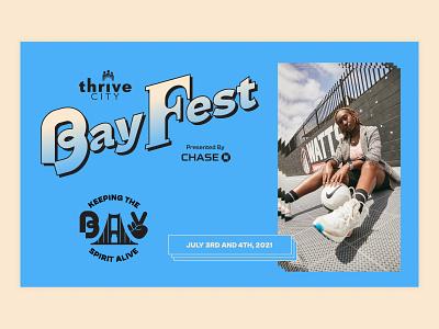 Bay Fest Branding grid layout the bay city colors graphics icons custom type typelogo event entertainment festival fest social logotype brand identity identity graphic design branding logo