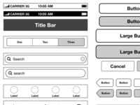 FNSZ iPhone iOS6 Wireframe Template