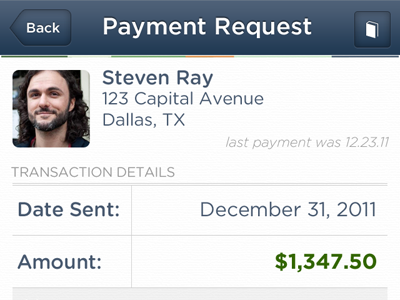 Payment Request 39argyle mobile ios iphone peertopeerpayment
