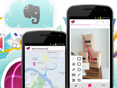 Skitch 2.0 Android mobile android evernote skitch