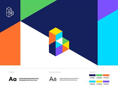 Blok logo b logo logo design isometric blocks identity brand colors logo branding