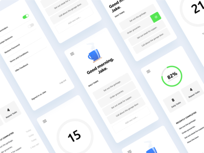 Daily App to do list to-do list to do checklist app design app tasks interface uxdesign ui design ux ui