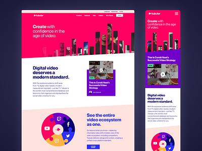 Tubular Website Redesign web design webdesign uidesign uxdesign site design site interface web ux ui website