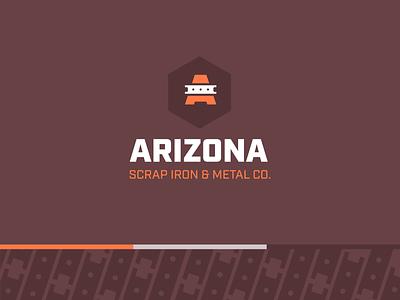 Arizona Scrap Iron & Metal Co orange maroon iron arizona rust metal brand colors identity logo branding
