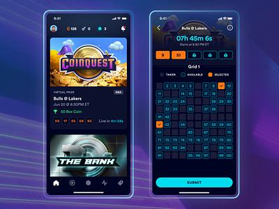 Boxiz App gamification interface boxes box game design game ios interface design ux app athletics sports games app design ui
