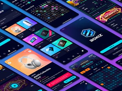 Boxiz App - Screens prize prizes squares grid boxes box sports screens game design game app app design ux ui