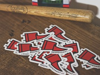 Red Pennant Sticker
