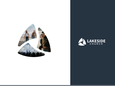 Lakeside Logo - Masked lakeside trinity triangle church logo